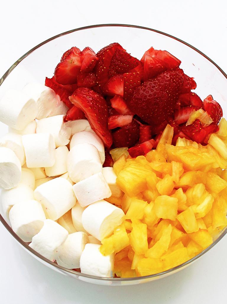 Strawberry Pineapple Fluff Salad