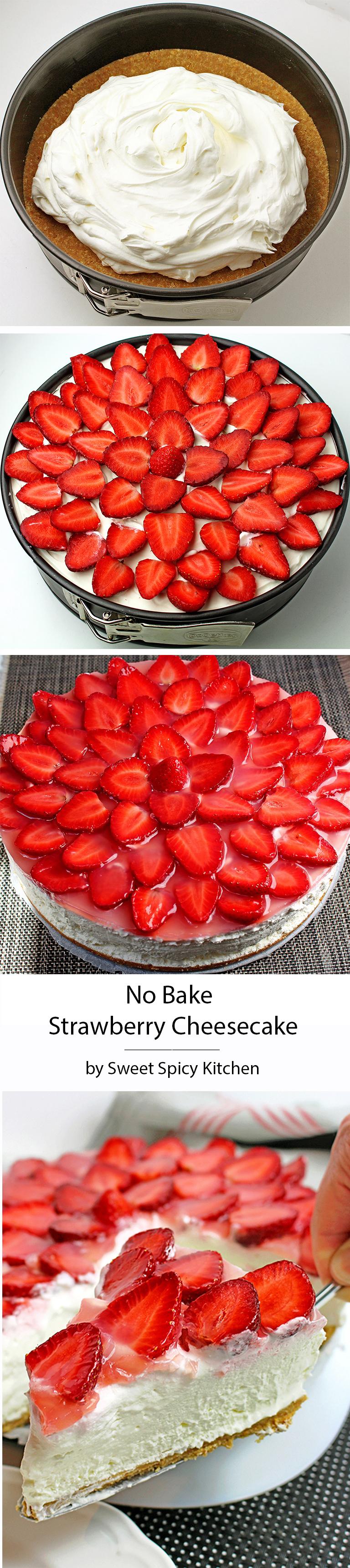 Untitled-10 No Bake Strawberry Cheesecake