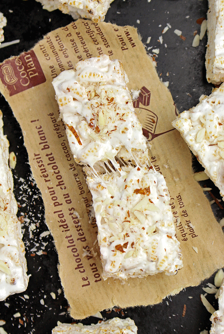 IMG_8817 Marshmallow Rice Crispy Almond Treats