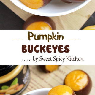 Pumpkin Sweet Spicy Buckeyes