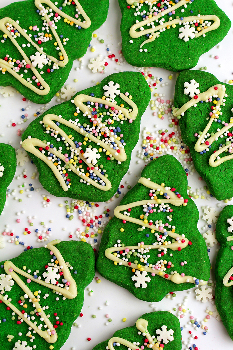 Christmas Tree Mint Cookies