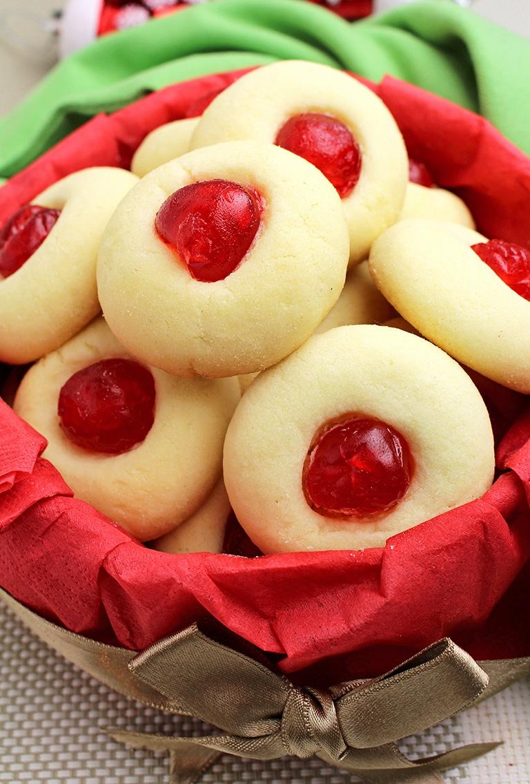 IMG_15244 Holiday Maraschino Cherry Shortbread Cookies