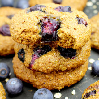 Healthy Blueberry Oatmeal Cookies