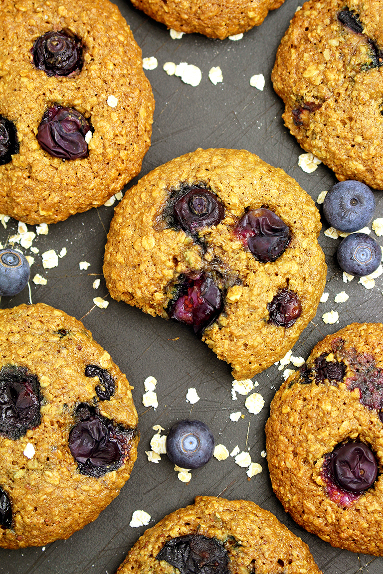 IMG_32344 Healthy Blueberry Oatmeal Cookies