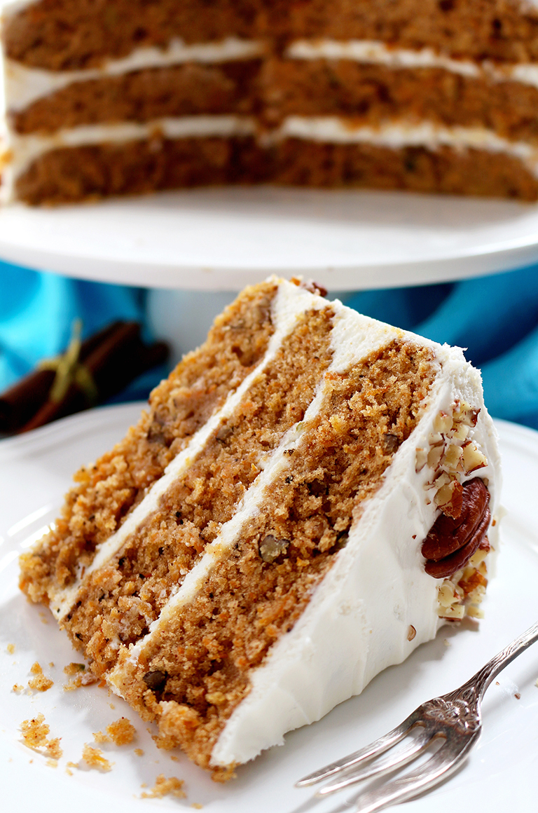 Carrot Cake with Cream Cheese Cream Frosting
