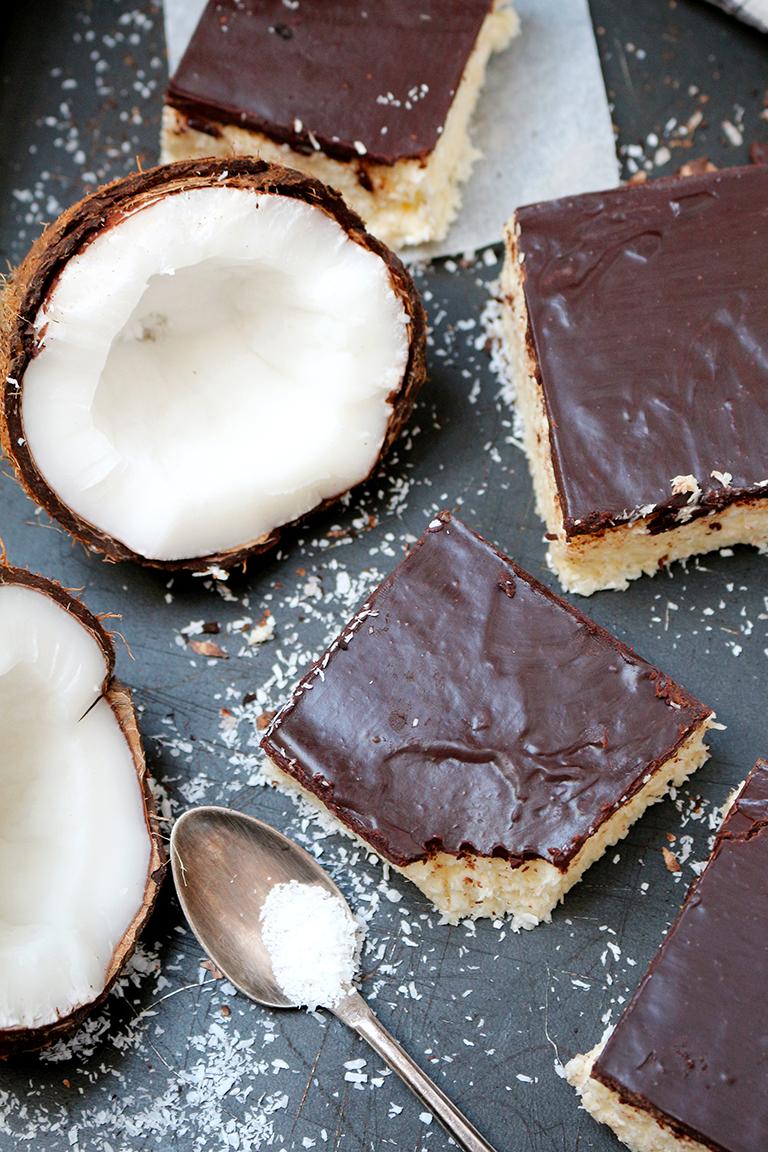 Easy No Bake Coconut Chocolate Bars