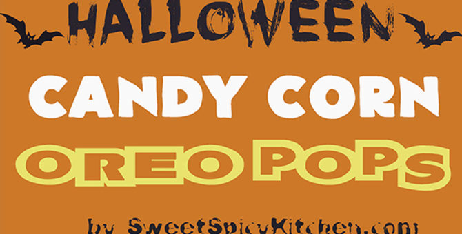 Halloween Candy Corn Oreo Pops