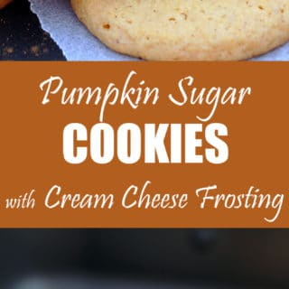 Pumpkin Sugar Cookies with Cream Cheese Frosting – these crunchy sugar cookies with pumpkin and cream cheese frosting are perfect for fall and upcoming holidays, like Thanksgiving.