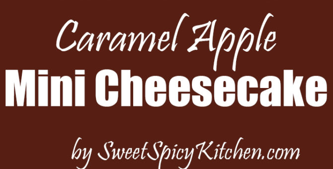 Caramel Apple Mini Cheesecake