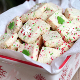 Holiday Funfetti Shortbread Bites