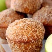 Cinnamon Sugar Apple Muffins