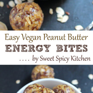 Try to make these Easy Vegan Peanut Butter Energy Bites and you will make it over and over again