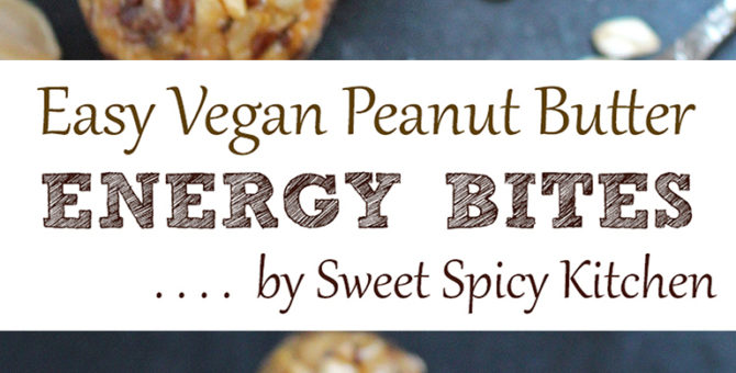 Easy Vegan Peanut Butter Energy Bites