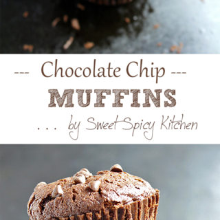 Calling out for all of the chocoholics! Chocoholic Chocolate Chip Muffins recipe.. for complete chocolate pleasure, these muffins are a chocolate-lover's dream