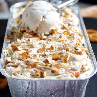 Caramel Pretzel Cheesecake Ice Cream