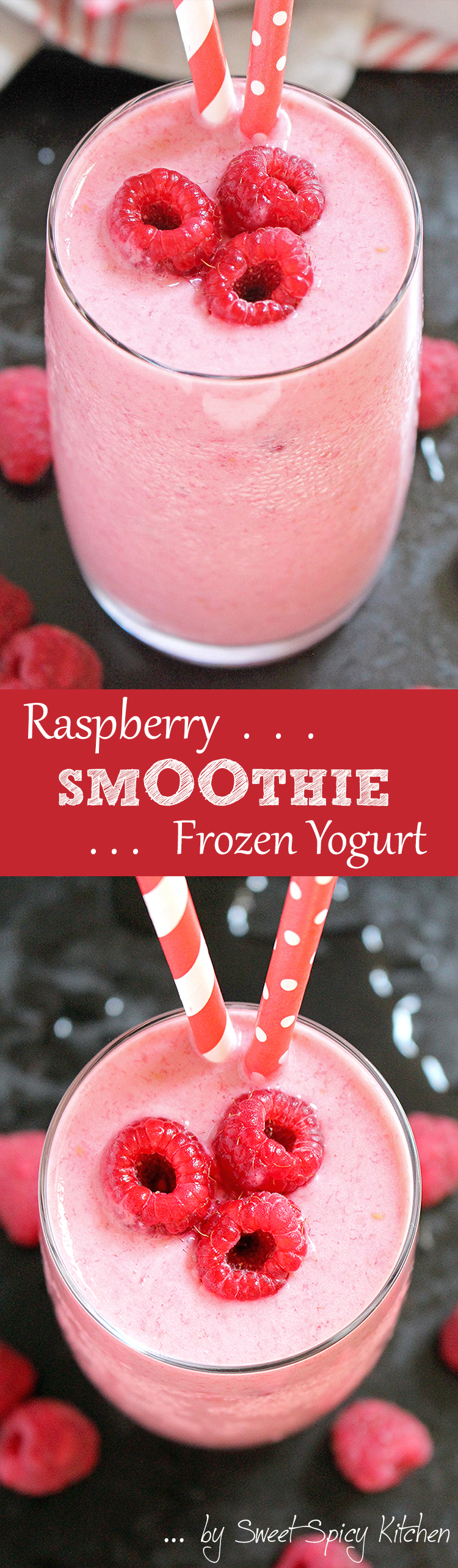 Untitled-1 Raspberry Frozen Yogurt Smoothie