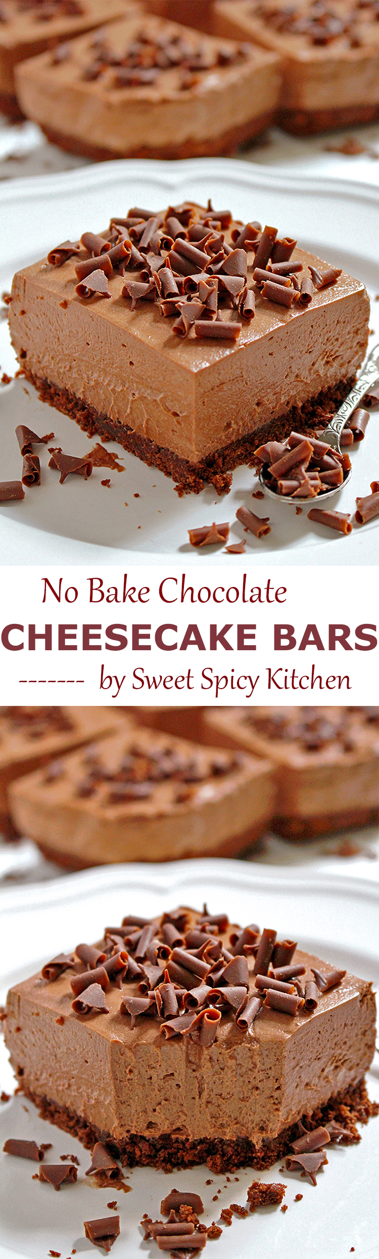 Untitled-10 No Bake Chocolate Cheesecake Bars