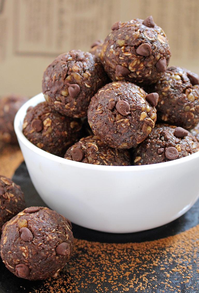 IMG_8177 No Bake Chocolate Energy Balls