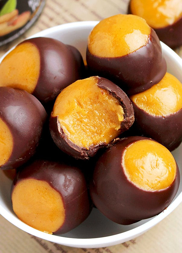 Pumpkin Sweet Spicy Buckeyes