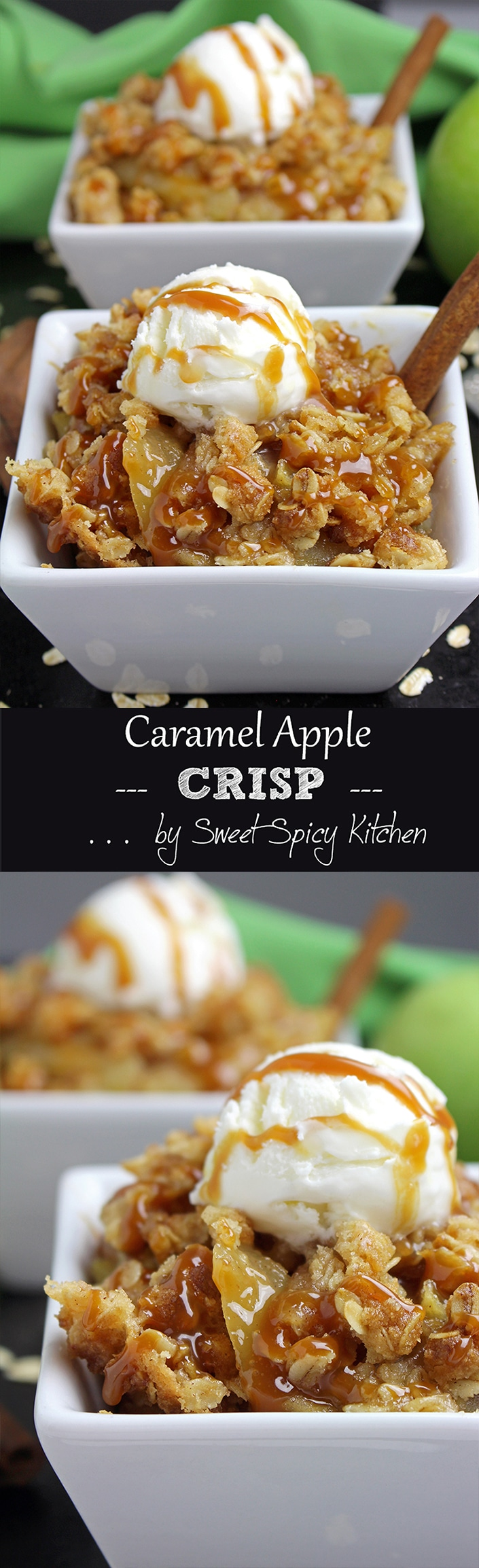 Impress your friends and family with this tasty and delicious dessert recipe – Caramel Apple Crisp