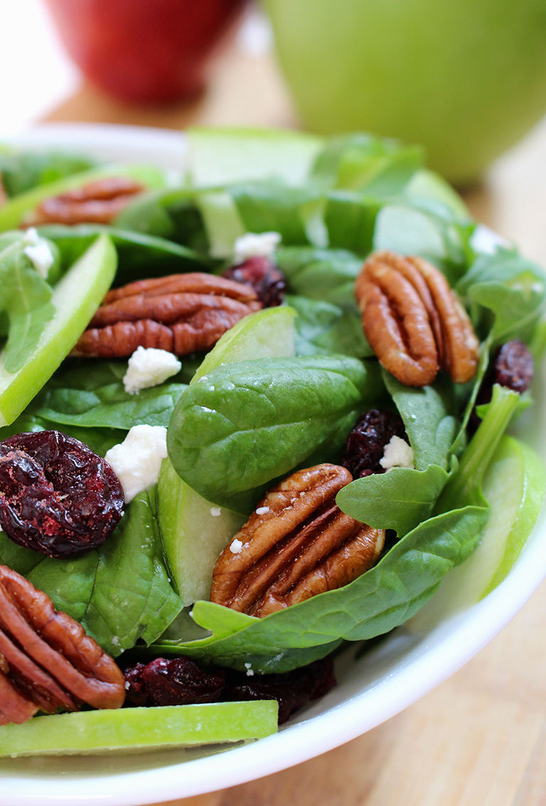 IMG_9064 Cranberry Pecan Spinach Salad