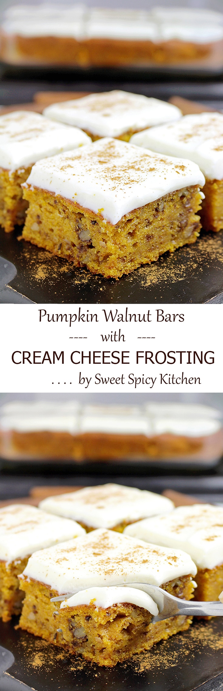 Pumpkin Walnut Cake With Cream Cheese Frosting