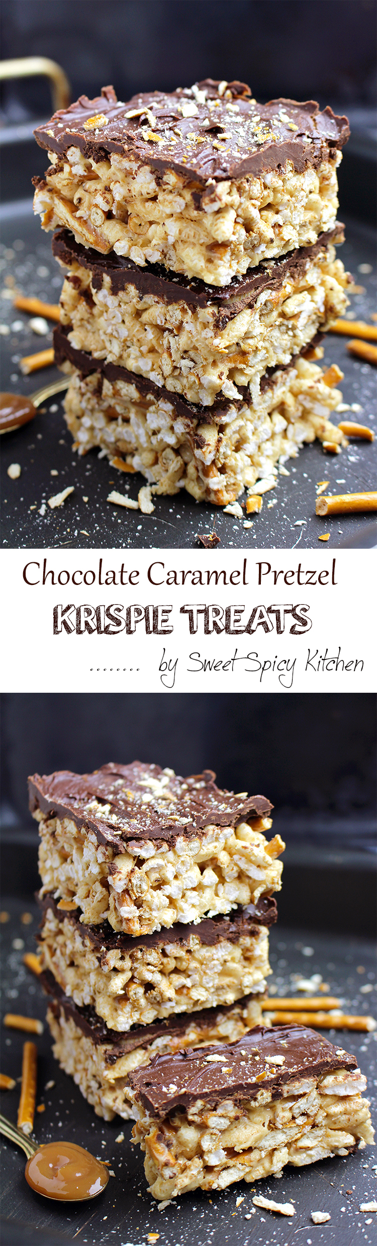 Untitled-155 Chocolate Caramel Pretzel Krispie Treats