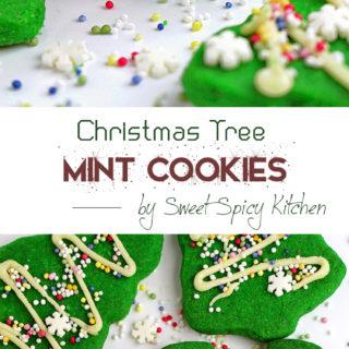 Christmas Tree Mint Cookies