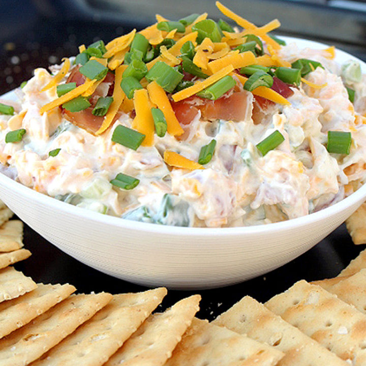 No Bake Cheddar Bacon DIP