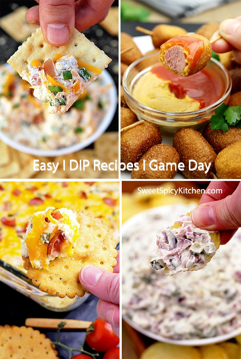 You can find here Game Day - DIP Recipes, for all Super Bowl fans