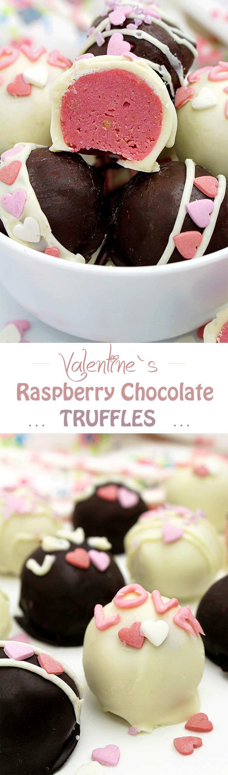 Valentine's Raspberry Chocolate Truffles