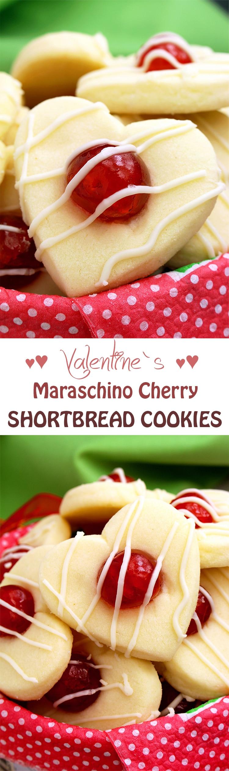 Untitled-150 Valentine's Maraschino Cherry Shortbread Cookies