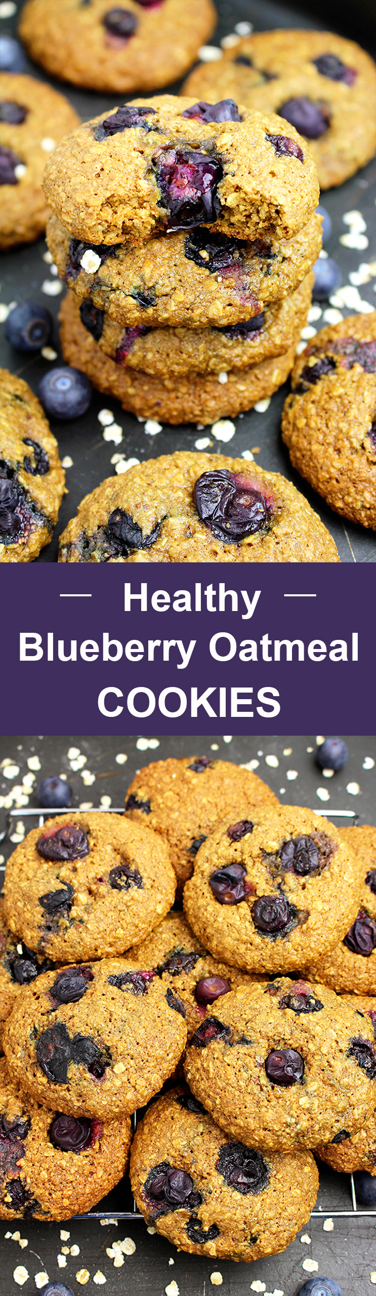 Untitled-11 Healthy Blueberry Oatmeal Cookies