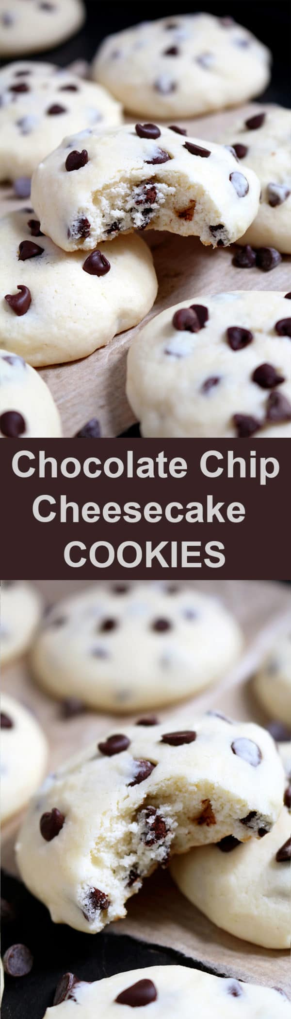 Chocolate Chip Cheesecake Cookies are simple, light and delicious, my favorite cookie recipe ♥