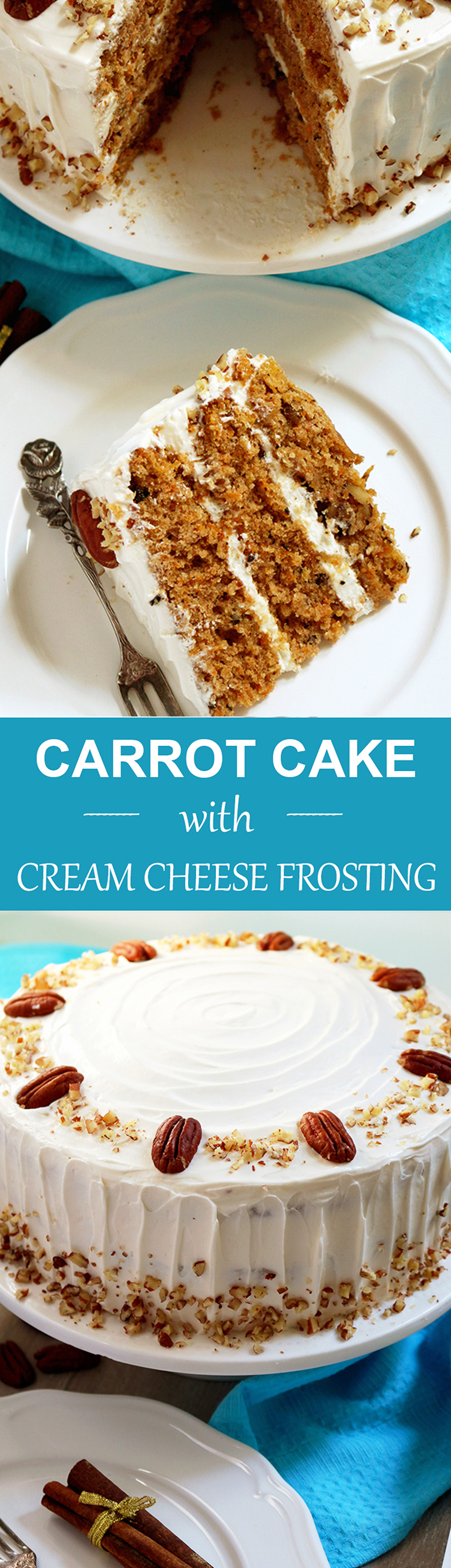 Special dessert for special occasions – Carrot Cake with Cream Cheese Frosting
