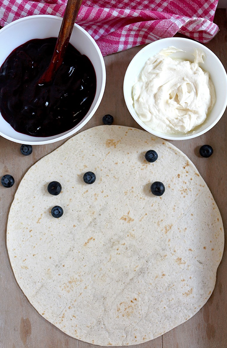 Blueberry Cheesecake Chimichangas