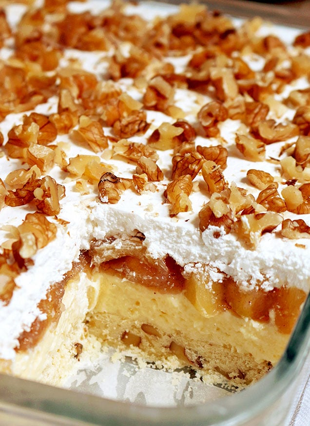 Layered Apple Lasagna Dessert