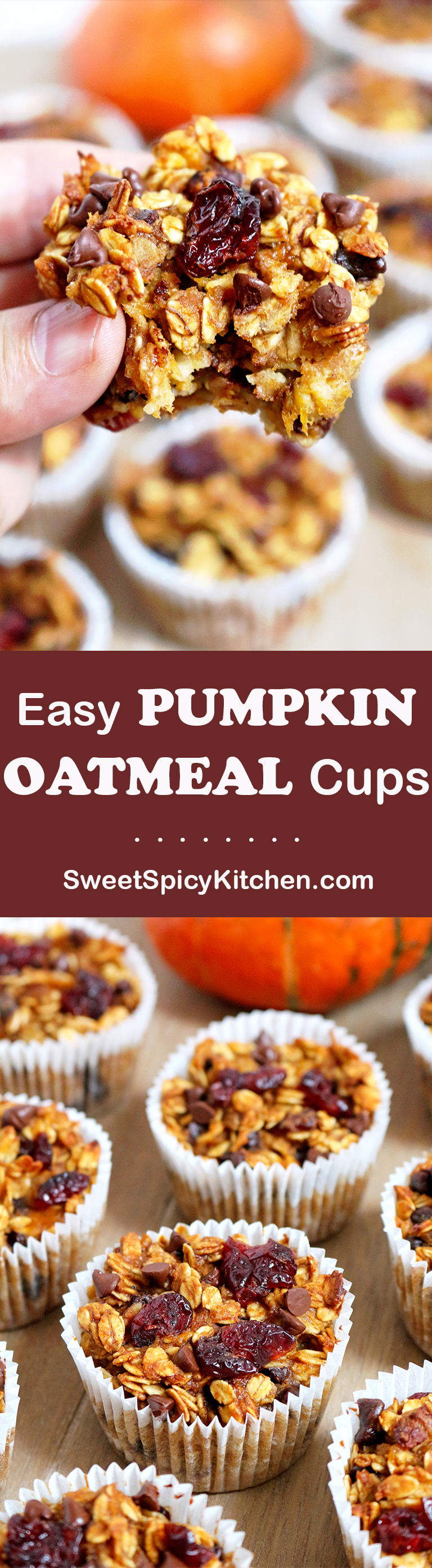 Easy Pumpkin Oatmeal Cups
