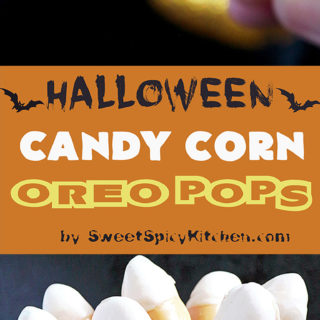 This is my recipe for Halloween. Only three ingredients are enough to make Halloween Candy Corn Oreo Pops. Super easy, no bake recipe.