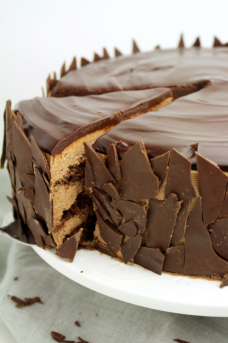 Chocolate Mousse Cake – a chocolate cake filled with chocolate mousse will be loved by all chocolate fans.