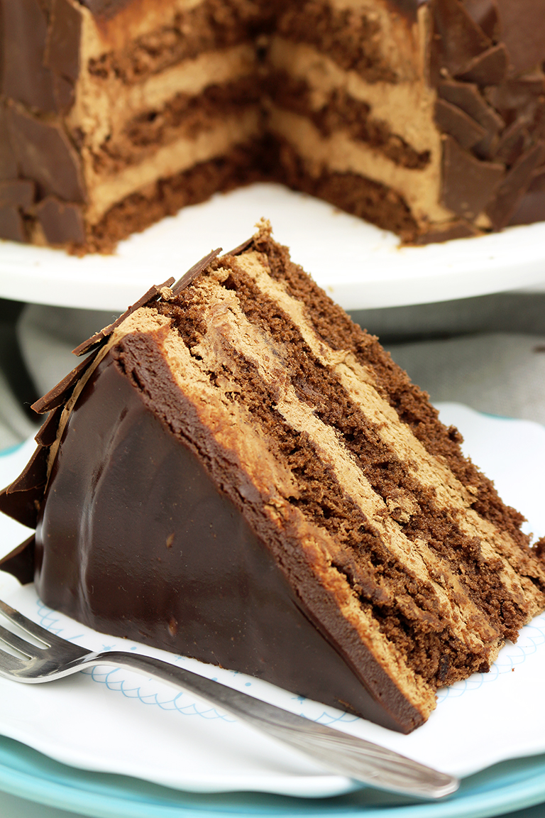 Chocolate Mousse Cake – a chocolate cake filled with chocolate mousse will be loved by all chocolate fans