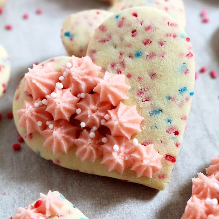 Valentine's Sugar Cookies with Butter Cream Frosting