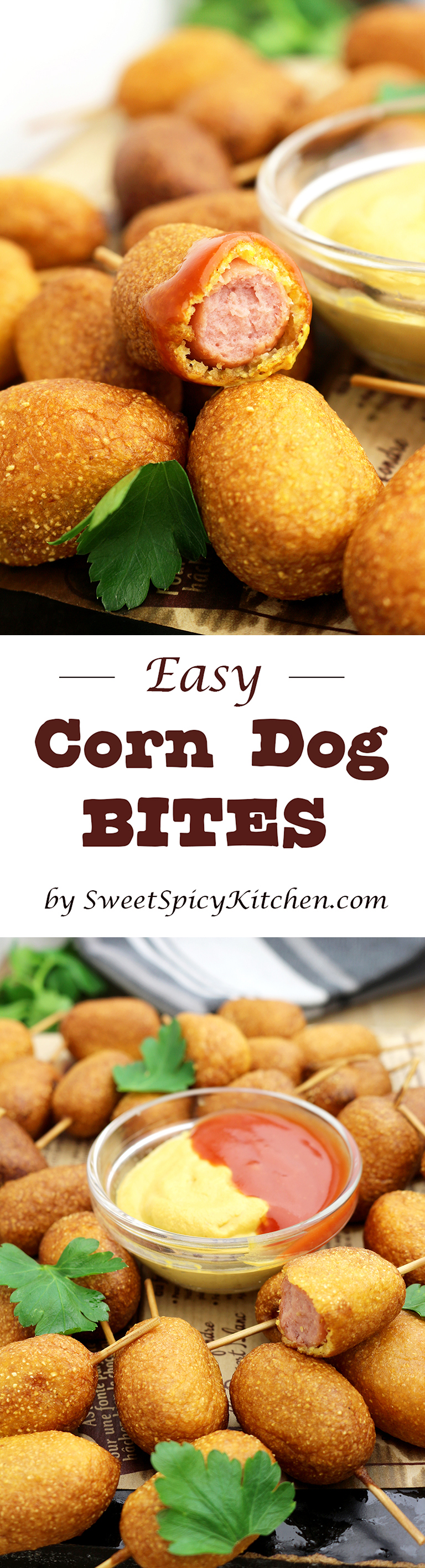 Easy Corn Dog Bites