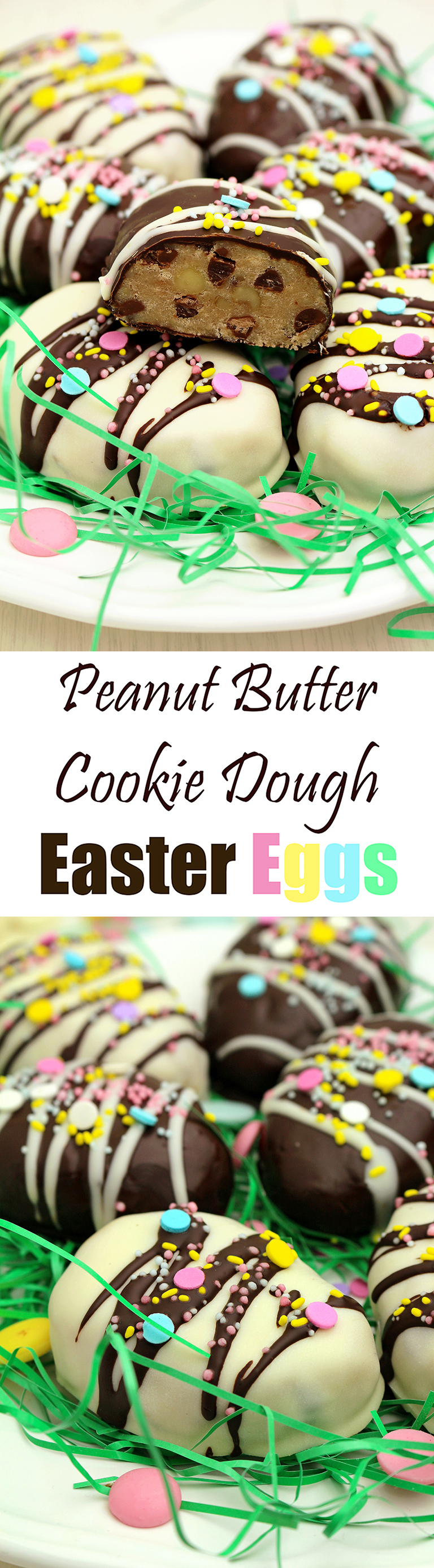 Peanut Butter Cookie Dough Easter Eggs
