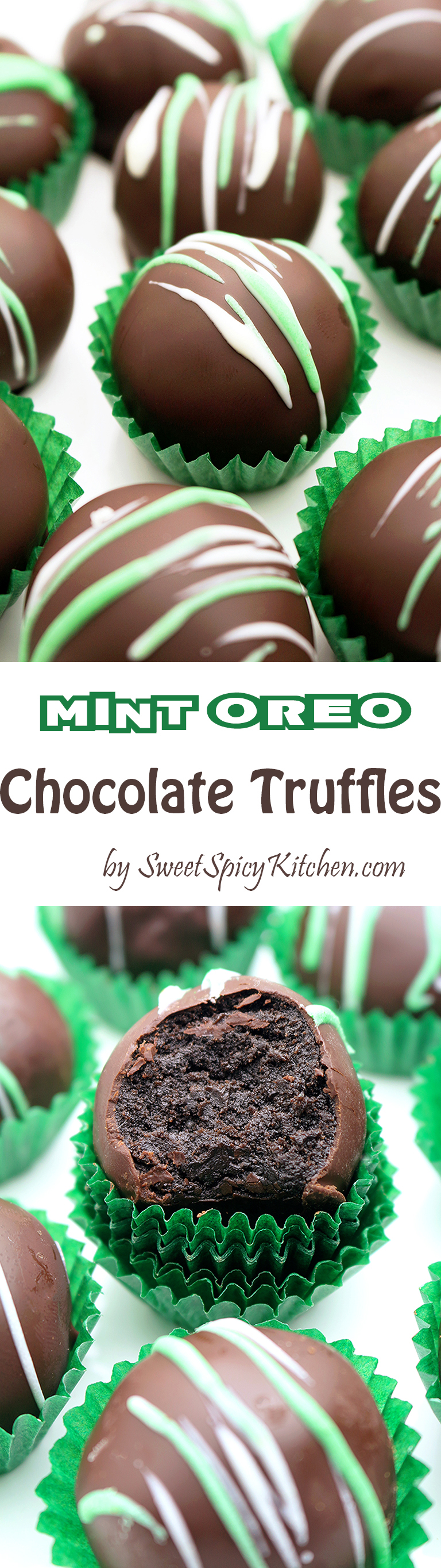 Mint Oreo Chocolate Truffles are simple, quick and so delicious, just perfect for St Patrick´s Day.