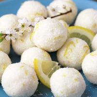 Coconut Lemon Protein Bliss Balls