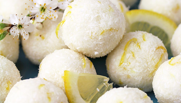 Coconut Lemon Protein Bliss Balls