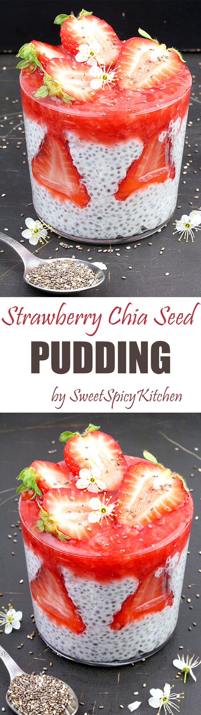 Strawberry Chia Seed Pudding is super quick and simple recipe for healthy and delicious meal.