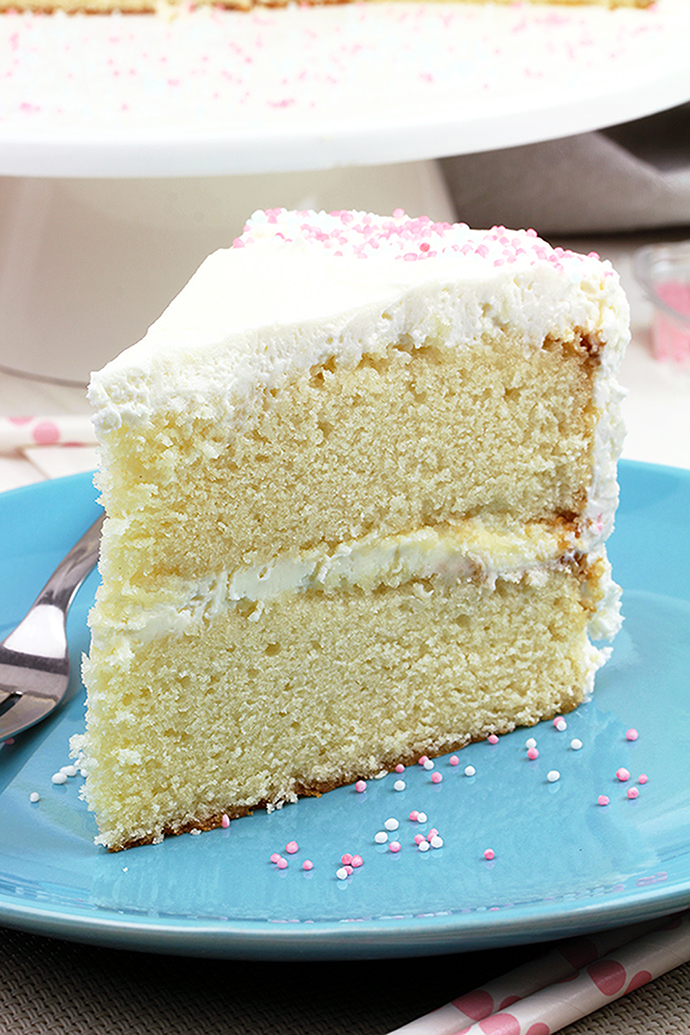 Fantastic Vanilla Cake With Whipped Cream Cheese Frosting Sweet Spicy Kitchen Funny Birthday Cards Online Inifodamsfinfo