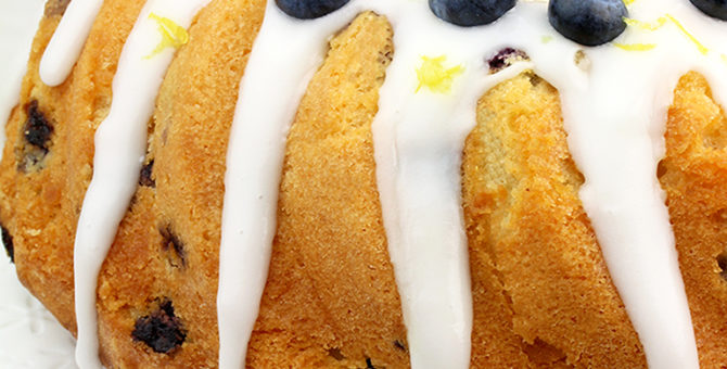 Blueberry Lemon Yogurt Bundt Cake